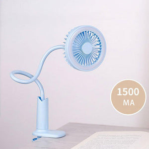 【Hot sale】50% off only today !Creative Personality Mini Usb Charging Clip Shower Table Lamp Small Fan.
