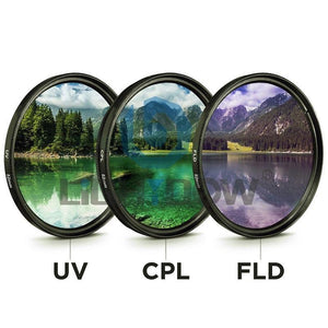 【Hot Sale】Last 79 pcs. UV+CPL+FLD 3 in 1 Lens Filter Set with Bag.50% off promotion and FREE SHIPPING NOW
