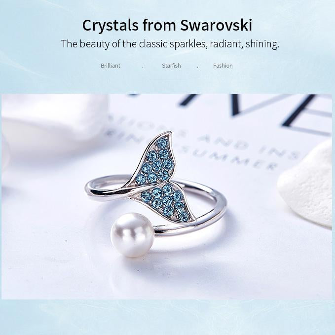(Mermaid Tail Ring!! BUY 1 GET 1 FREE) Mermaid Tail 925 Silver-Jewelry three suits