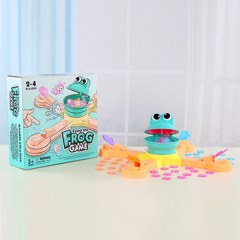 【Hot Sale】Feeding Frog Projection Eating Beans Fun Desktop Toy