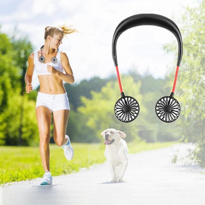 Hands-Free USB charging Neckband Fan,buy two get one free