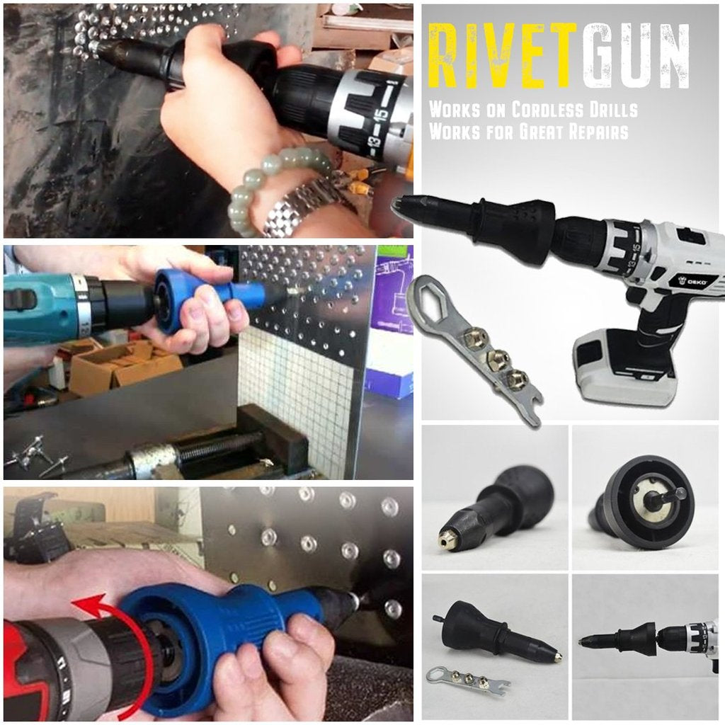 【Hot Sale】Detachable Rivet Gun Drill Adapter. Buy 1 pc save $10 only today