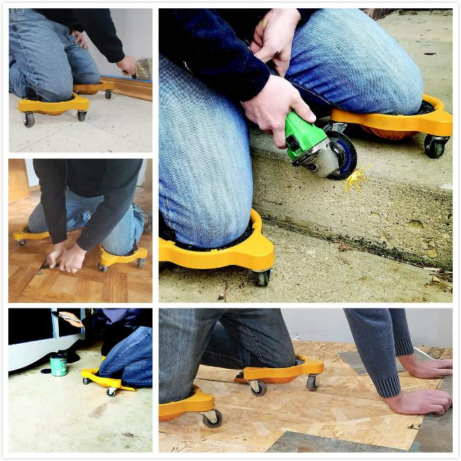 【Hot Sale!】Flooring Knee Silicone pads With Wheels