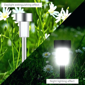 【50% OFF】Solar tube light waterproof led solar stainless steel inserted lawn lamp