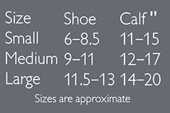 Odd Duck compression sock sizing chart