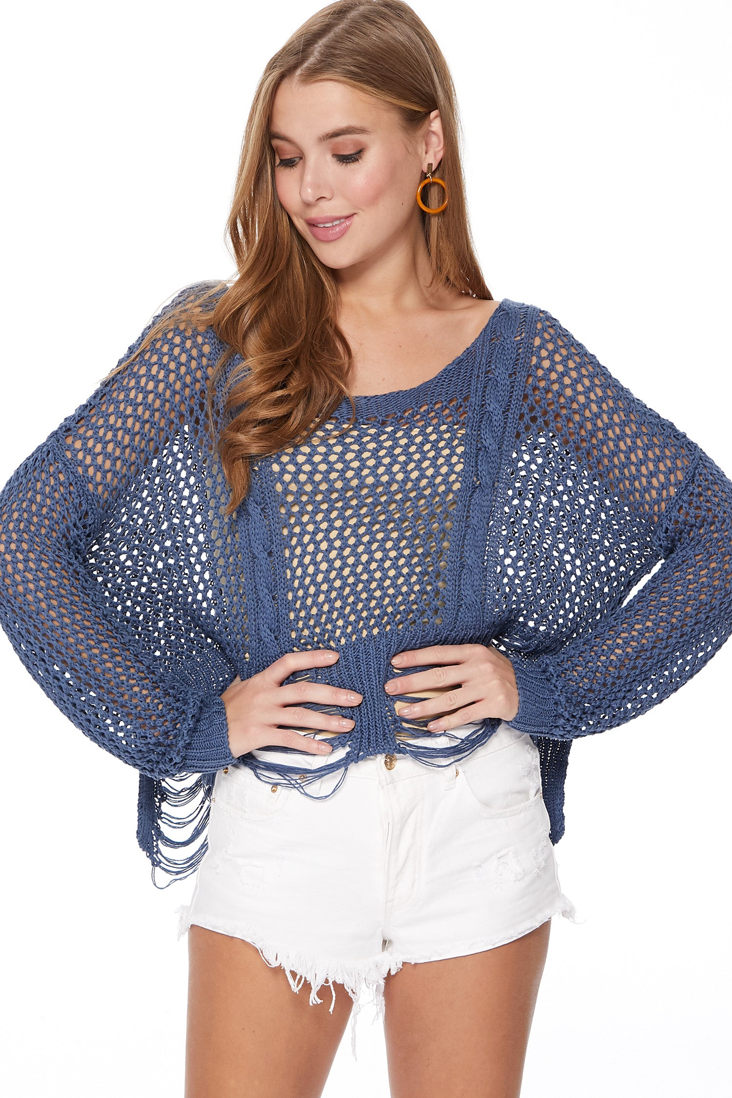 Heather Sweater in Navy