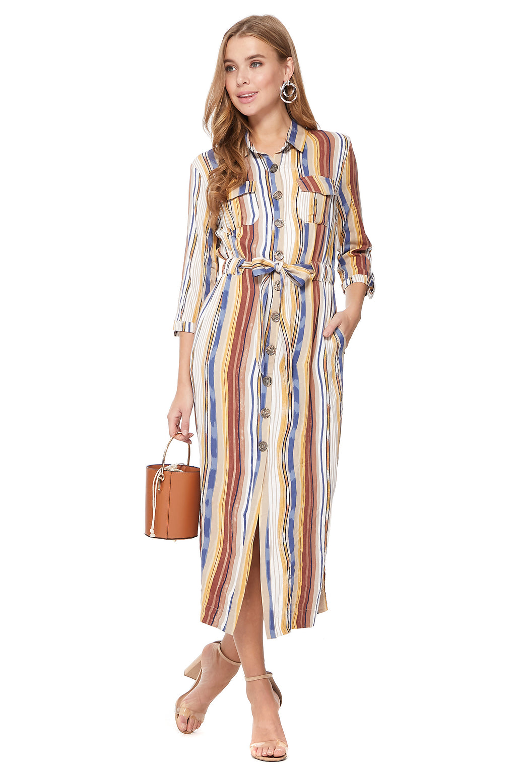 Olivia Maxi in  Nature Stripe