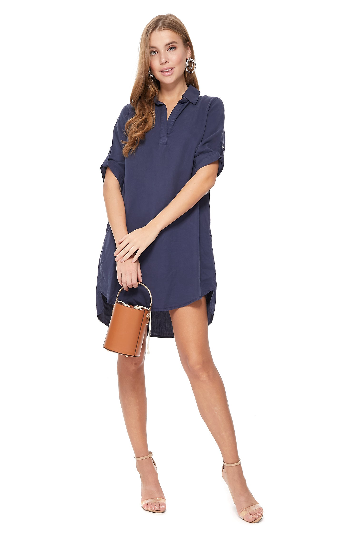 Nova Dress in Navy