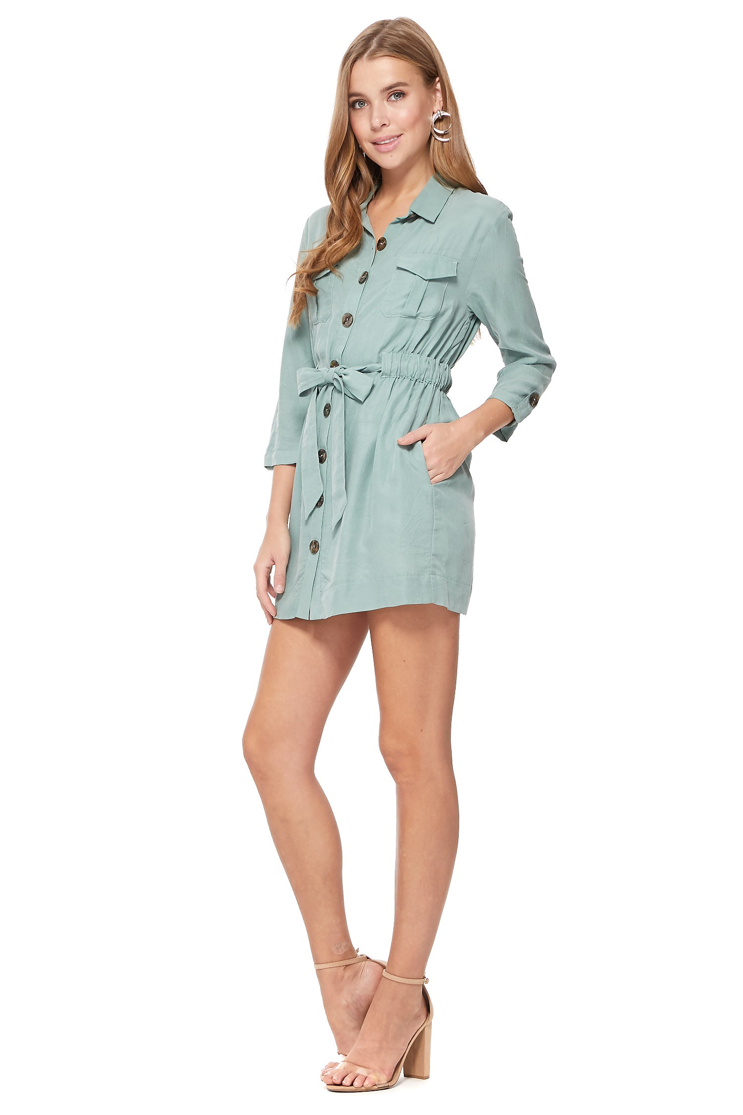 Sabrina Mini Dress in Sage