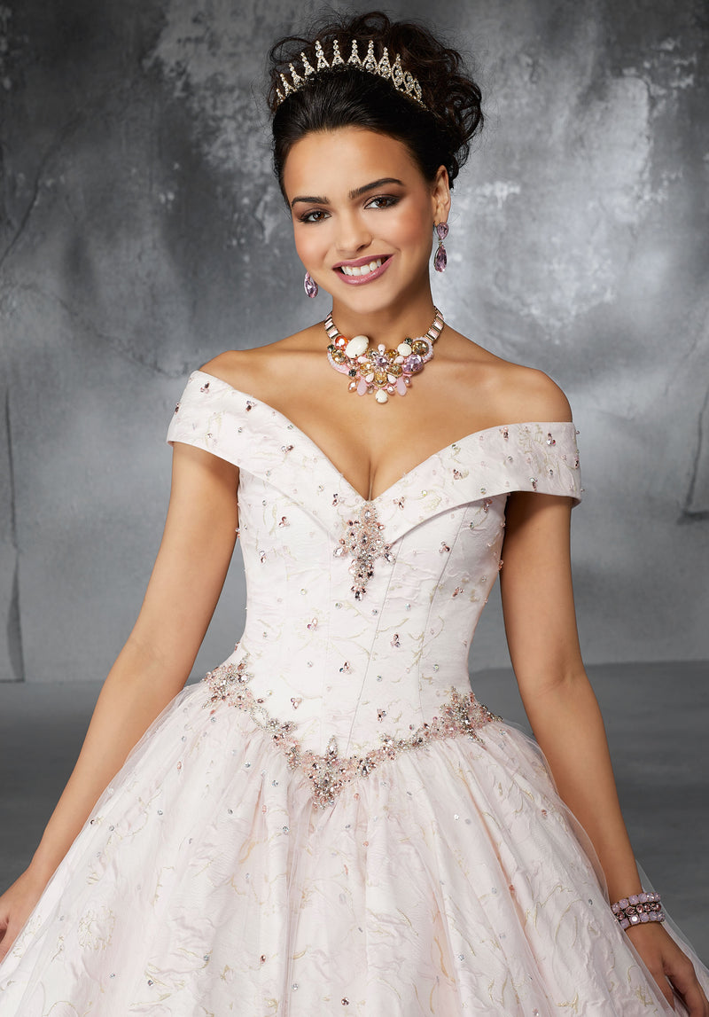 Amalia on a Princess Neckline - MoriLee #60051