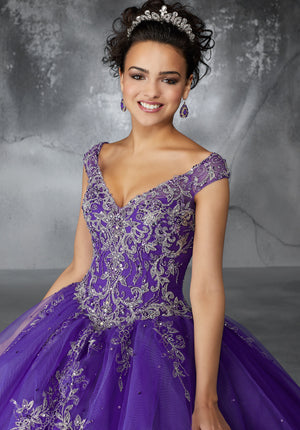 Margaret on a Princess Tulle Ballgown - MoriLee #60054