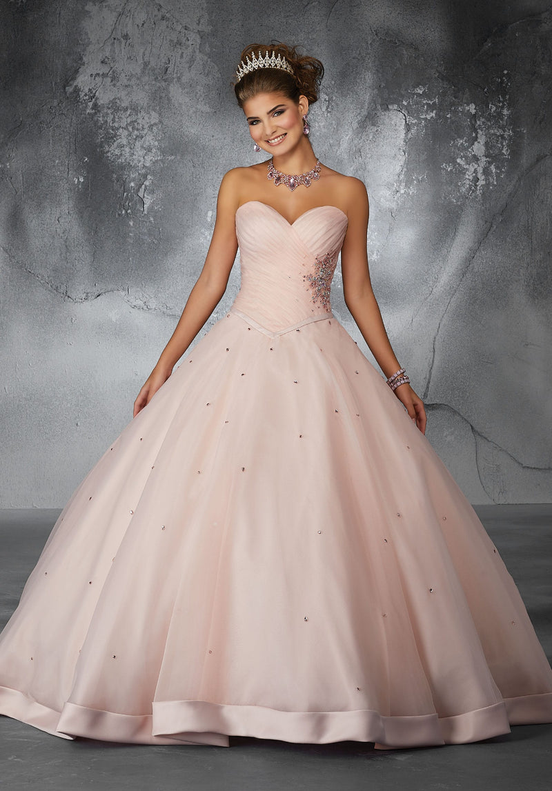 Barbara on a Trimmed Hemline and Crystal Beading -Mori Lee #60057