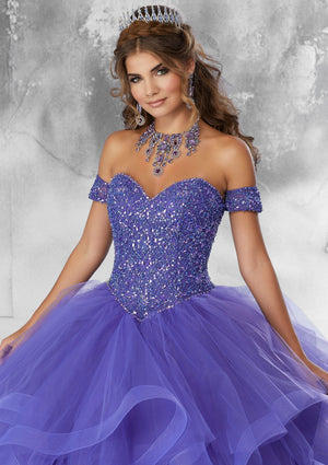 Cindy on a Flounced Tulle - MoriLee #89185
