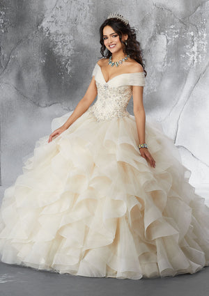Diana on a Ruffled Organza - MoriLee #89188