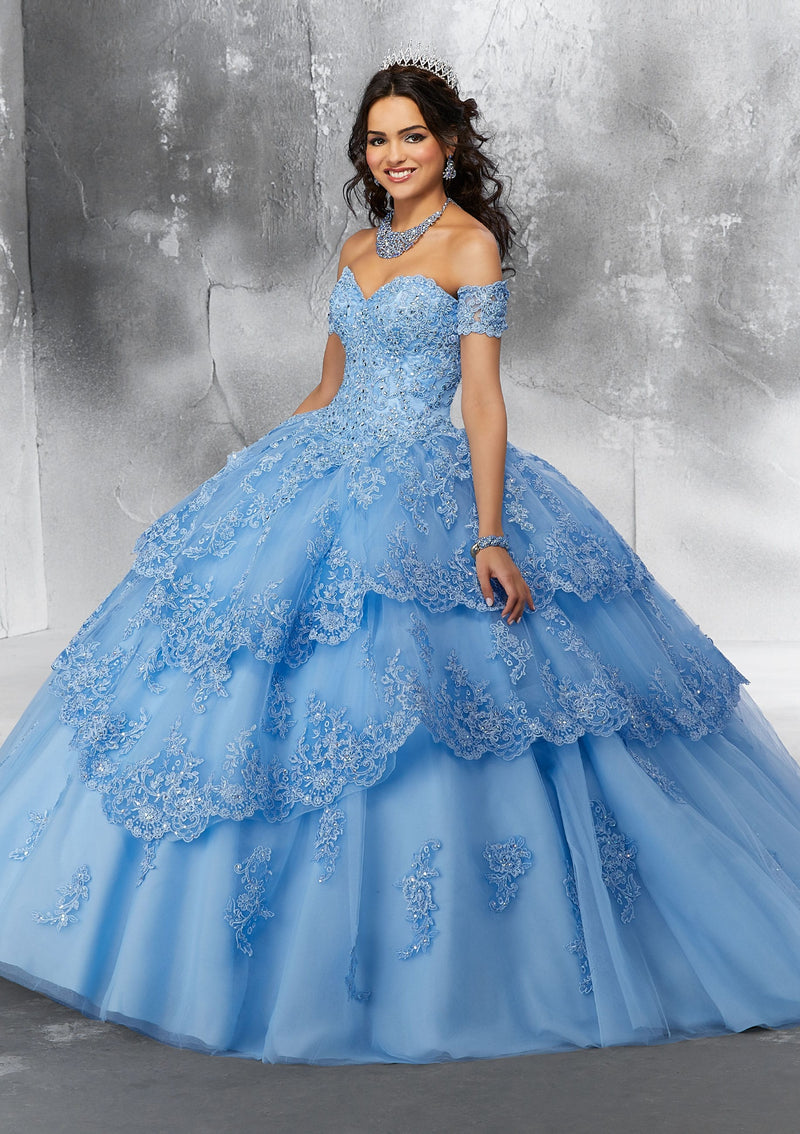 Ruth on a Lace-Edged Tiered Tulle - MoriLee #89190