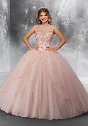 Nancy with Crystal Beading on a Princess - MoriLee #89197