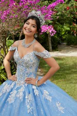 Isabel on a Crystal Beaded Tulle -MoriLee #89281