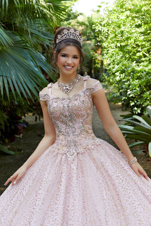 Francesca on a Metallic Embroidered - MoriLee #89298