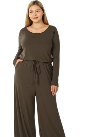 Arabella Fan Favorites Jumpsuit, Olive