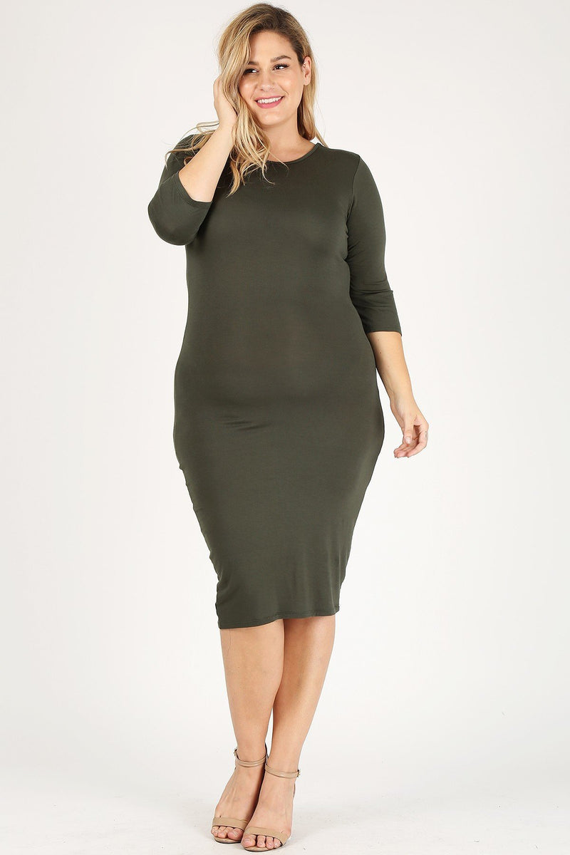 Gemma Days Ahead Olive Bodycon Dress