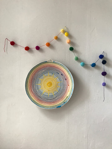 Sun + Rainbow Bowl (or hanging)