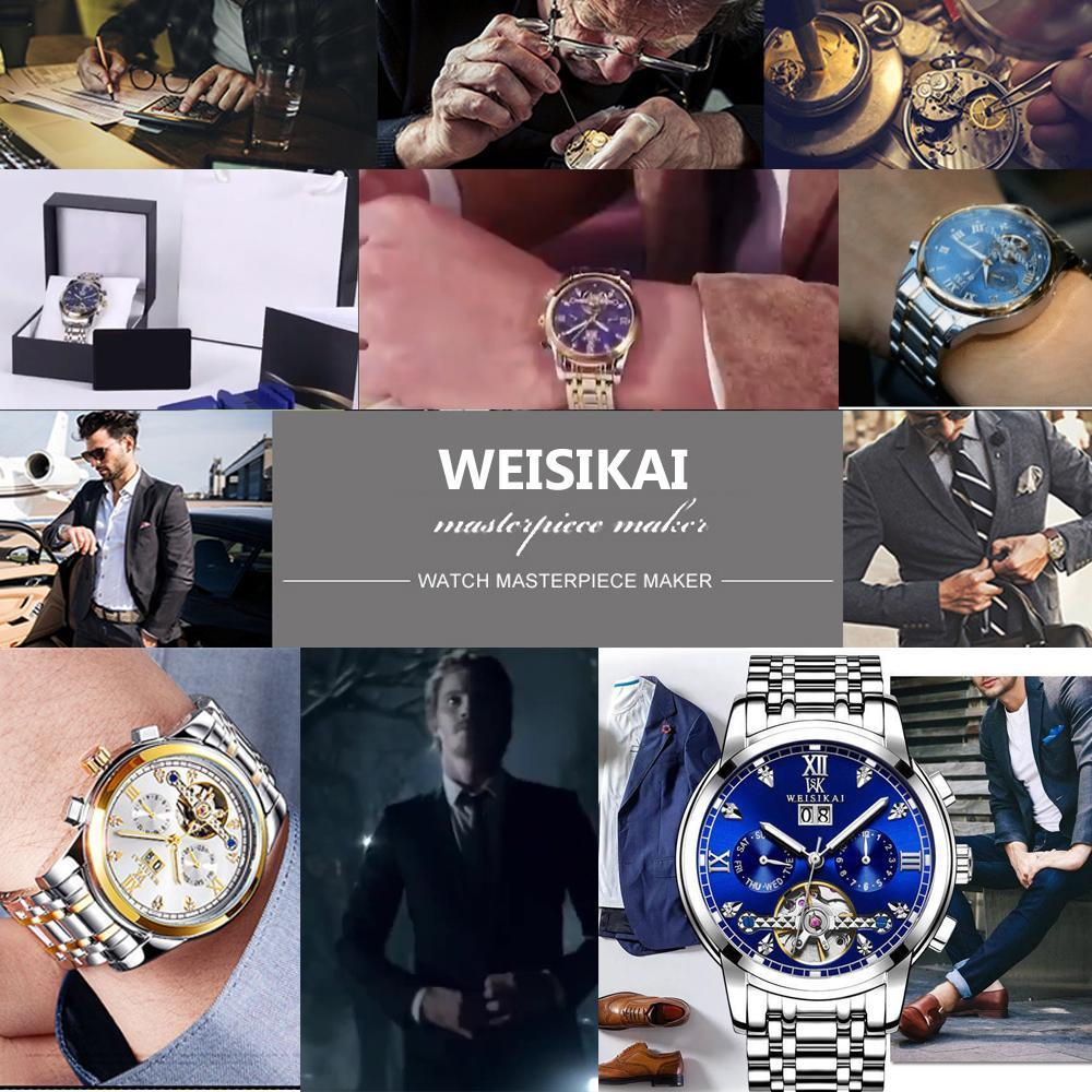 HOT--Luxury waterproof automatic mechanical watch