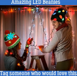 50% OFF🎅Christmas LED Beanies【Buy 2 Extra 20% Off and Free Shipping】