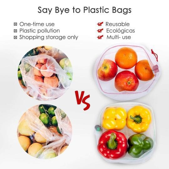 12pcs Reusable Produce Bags🔥Last day promotion !