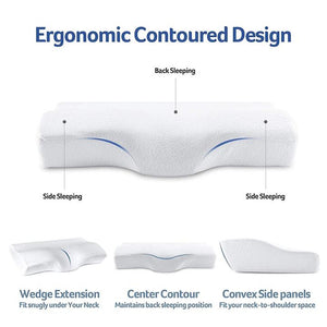 Contoured Cervical Orthopedic Memory Foam Pillow