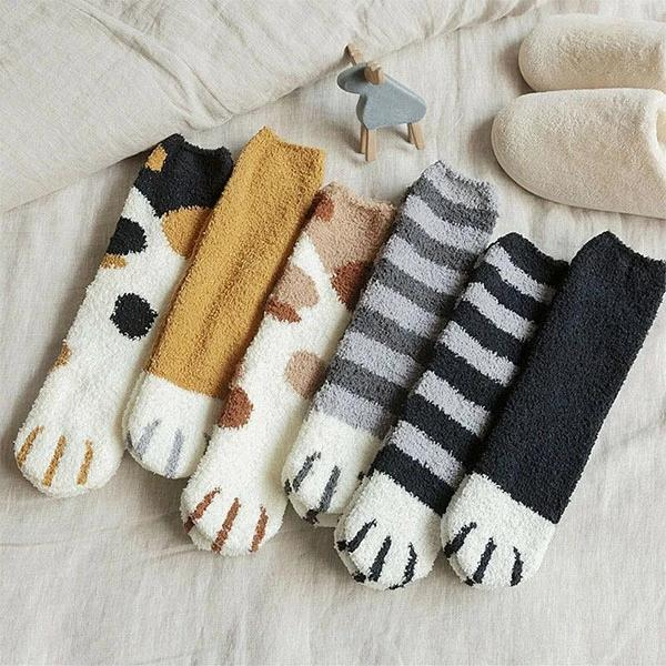 2019 NEWS Cat Paw Indoor Socks