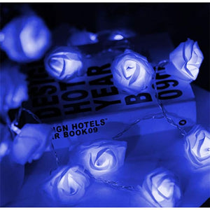 Led Rose Light String - Blue / 1.5M·10 Lights / 1Pc