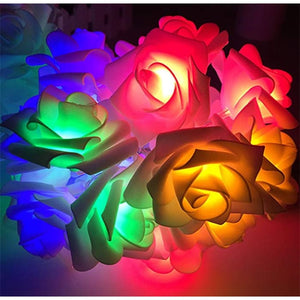 Led Rose Light String - Colour / 1.5M·10 Lights / 1Pc