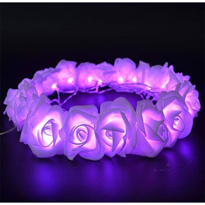 Led Rose Light String - Purple / 1.5M·10 Lights / 1Pc