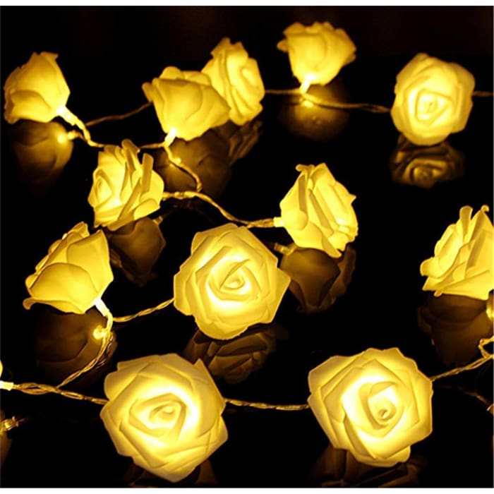 Led Rose Light String - Yellow / 1.5M·10 Lights / 1Pc