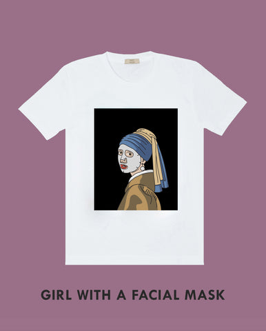 Girl with a Facial Mask - Tee