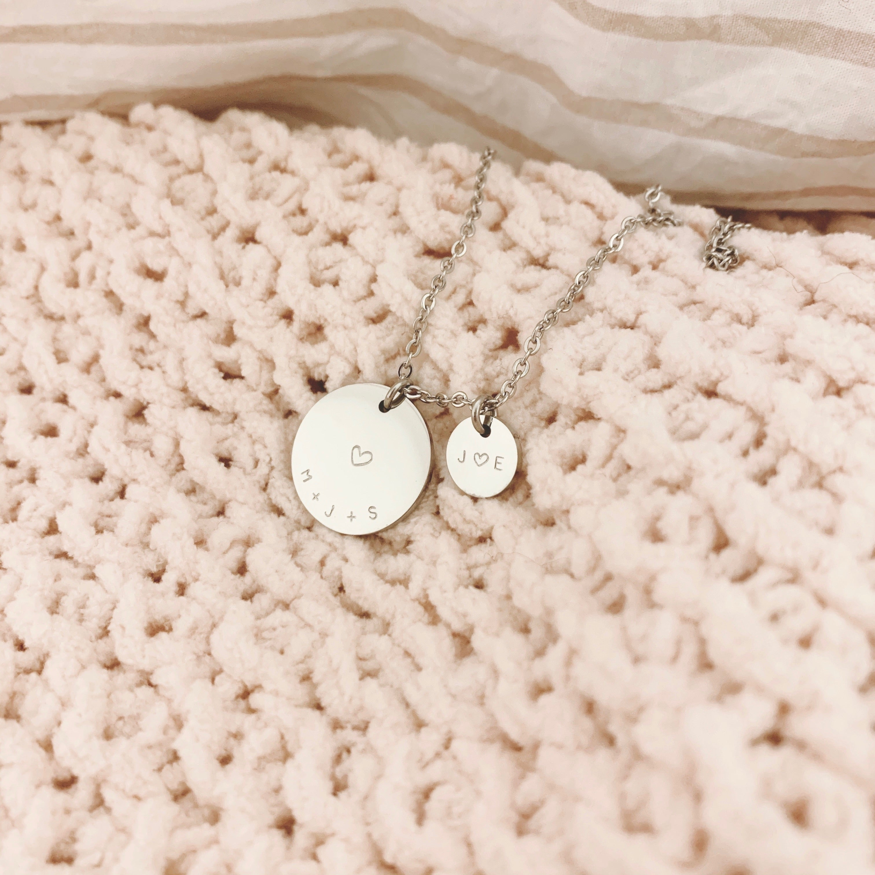 Large Disc + Small Disc Necklace