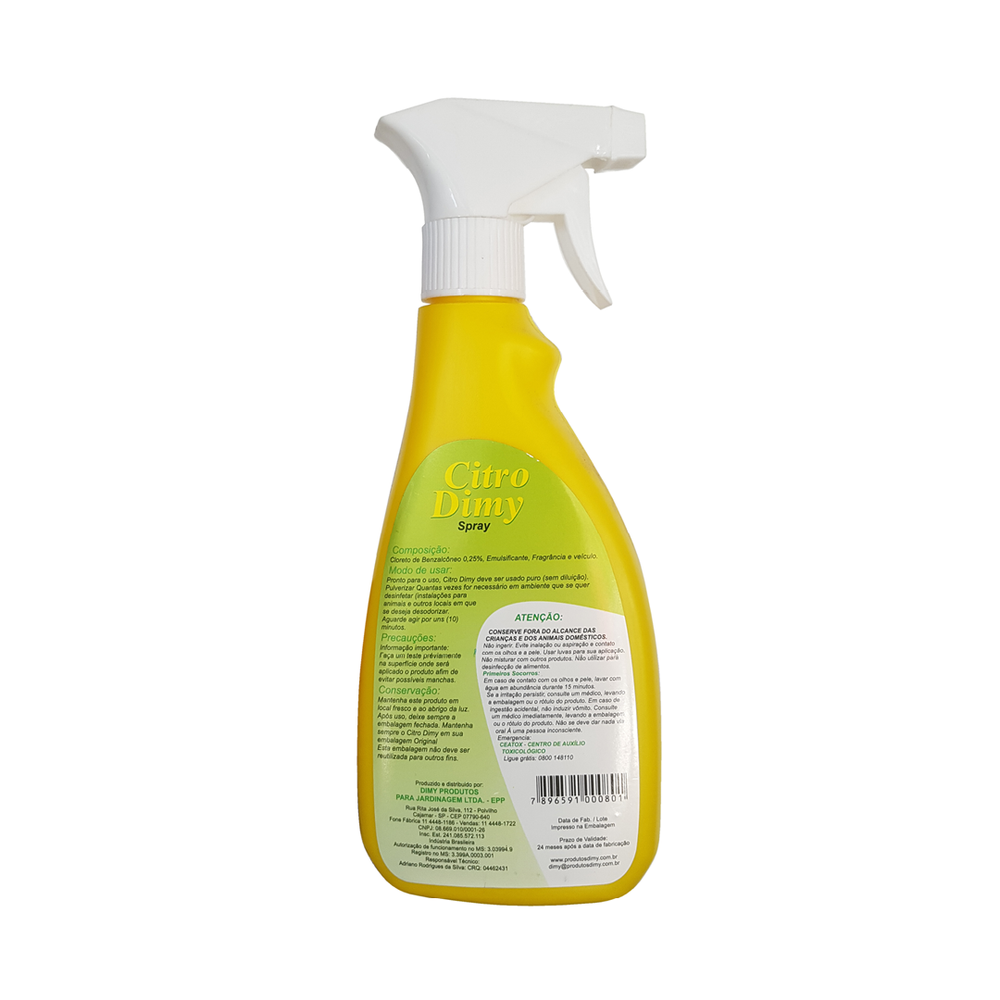 REPELENTE P/ PLANTAS CITRO DIMY 500ML