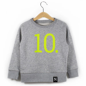 The Number 10 grey sweatshirt front