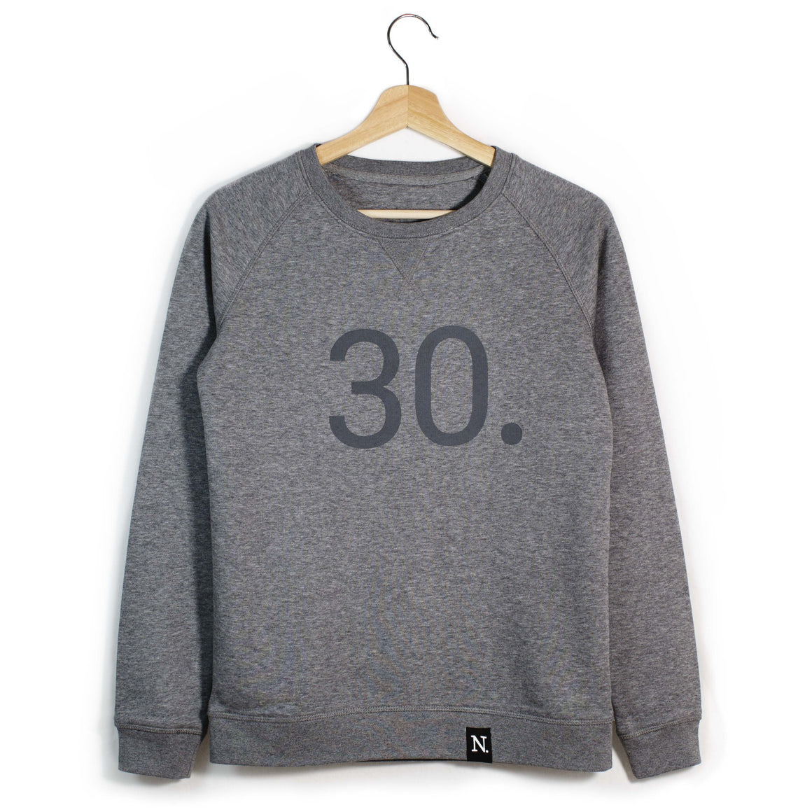 The Number 30 dark grey sweatshirt front