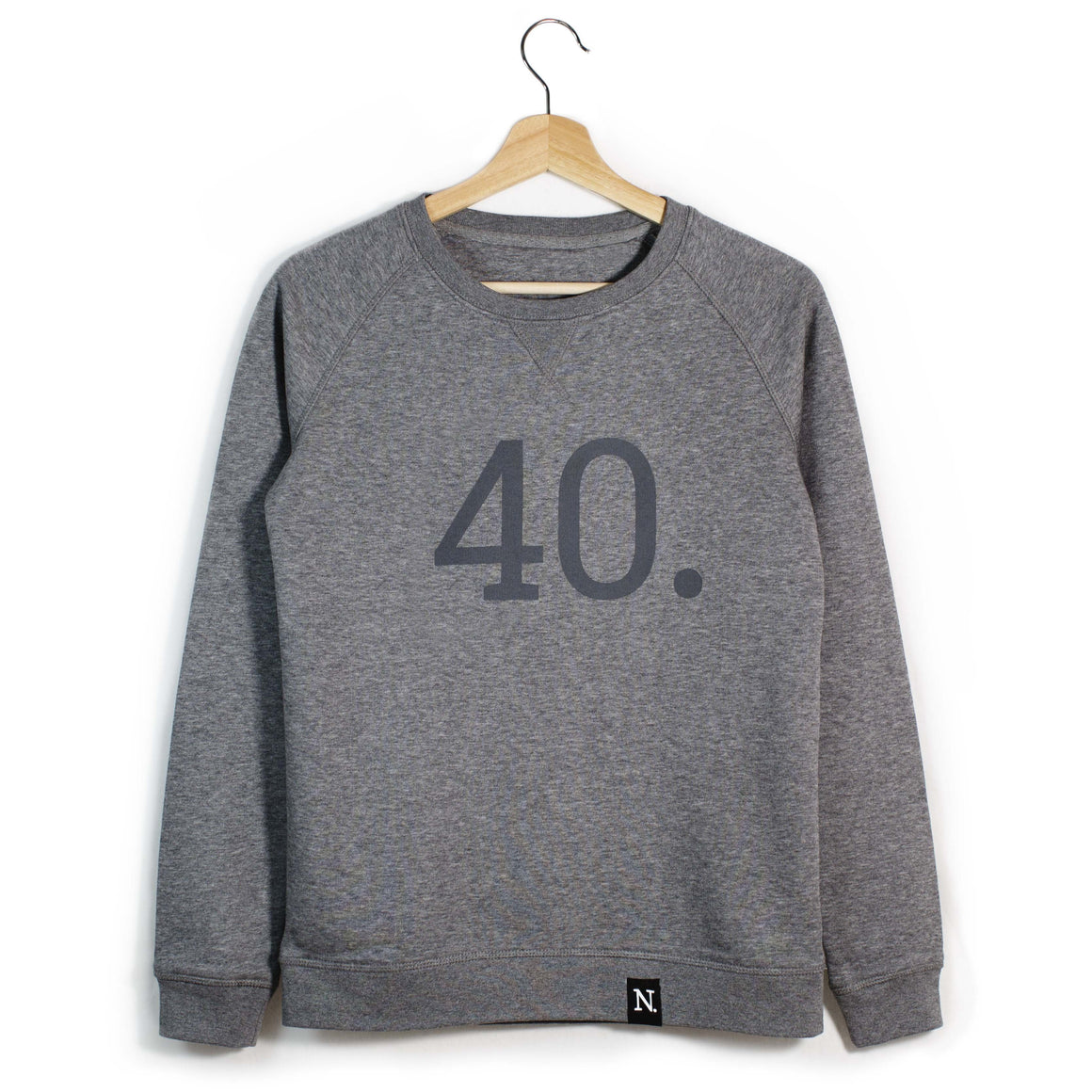 The Number 40 dark grey sweatshirt front