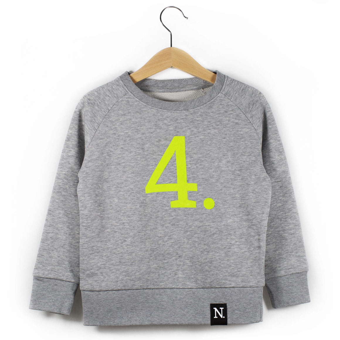 The Number 4 grey sweatshirt front