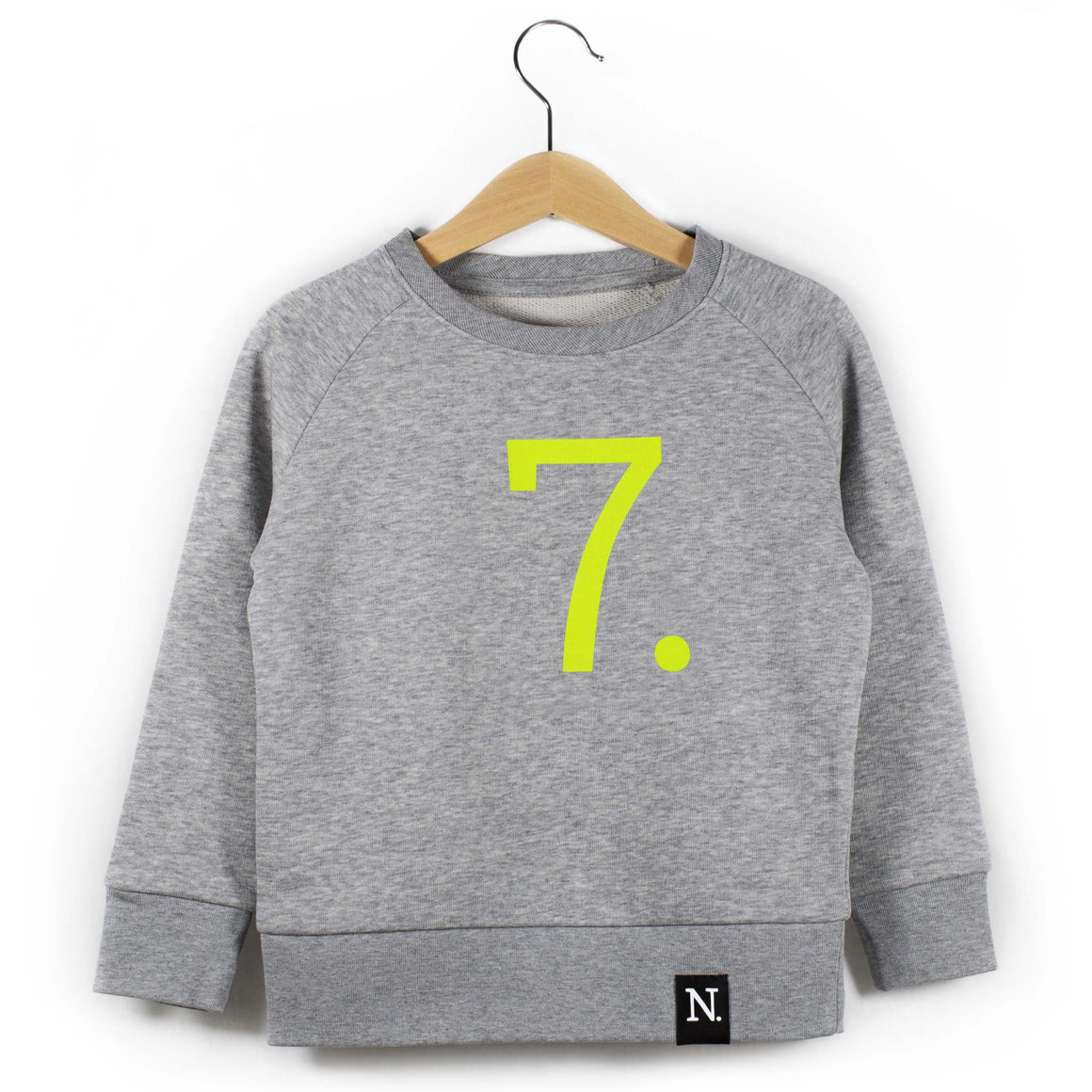 The Number 7 grey sweatshirt front