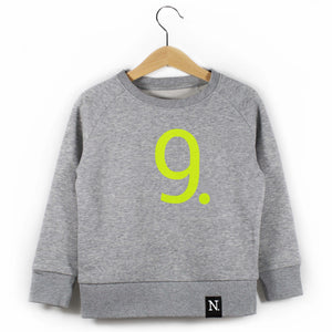 The Number 9 grey sweatshirt front