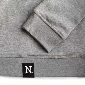 The Number 50 dark grey sweatshirt detail