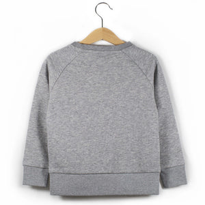 The Number 8 grey sweatshirt back