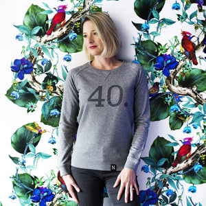 The Number 40 dark grey sweatshirt