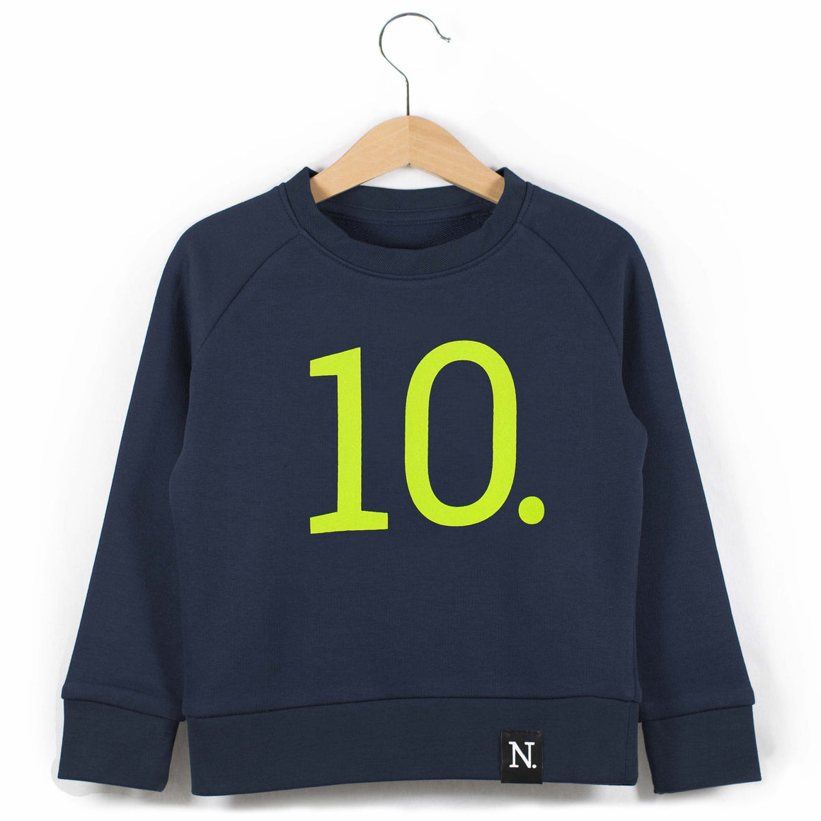 The Number 10 navy sweatshirt front