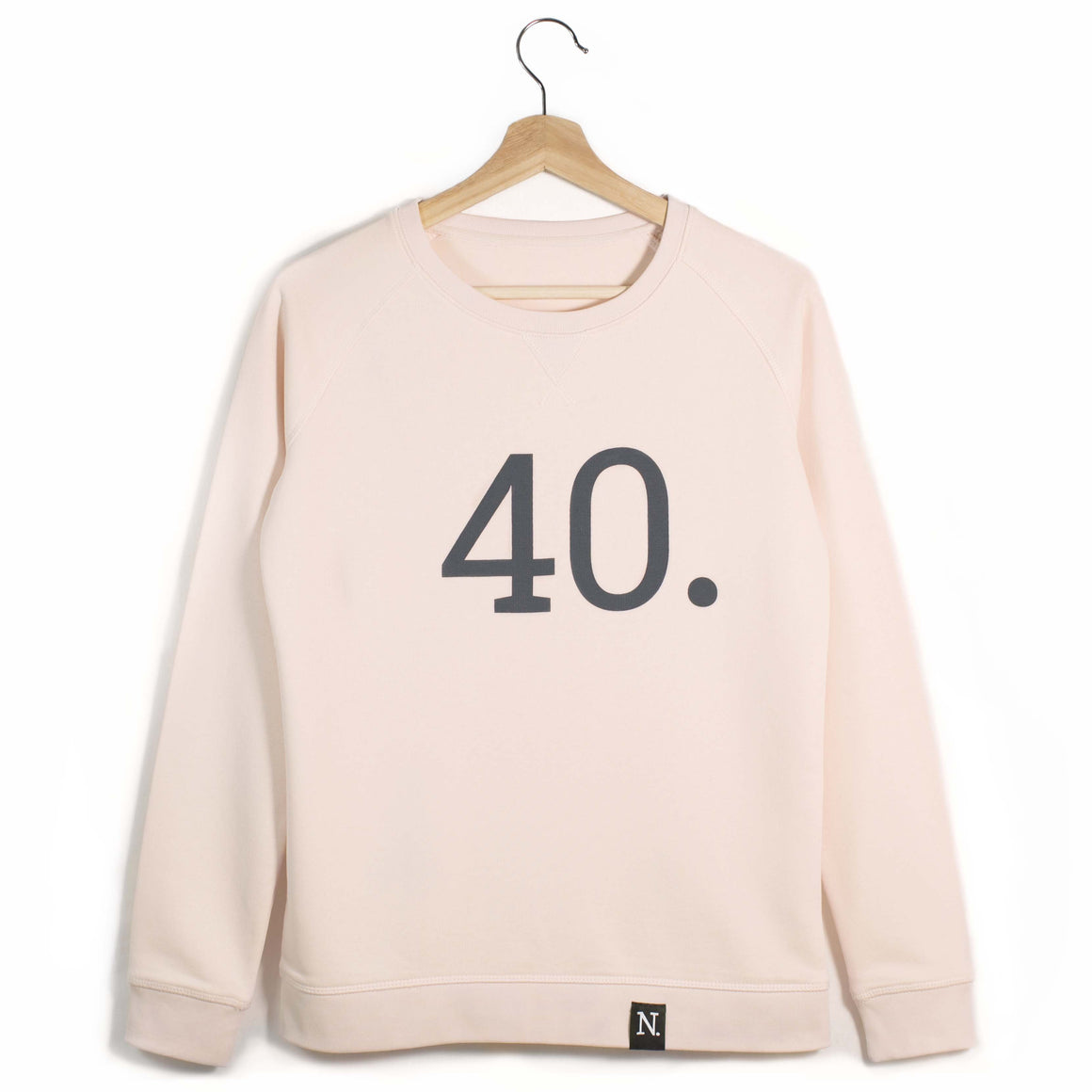 The Number 40 pink sweatshirt front