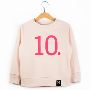 The Number 10 pink sweatshirt