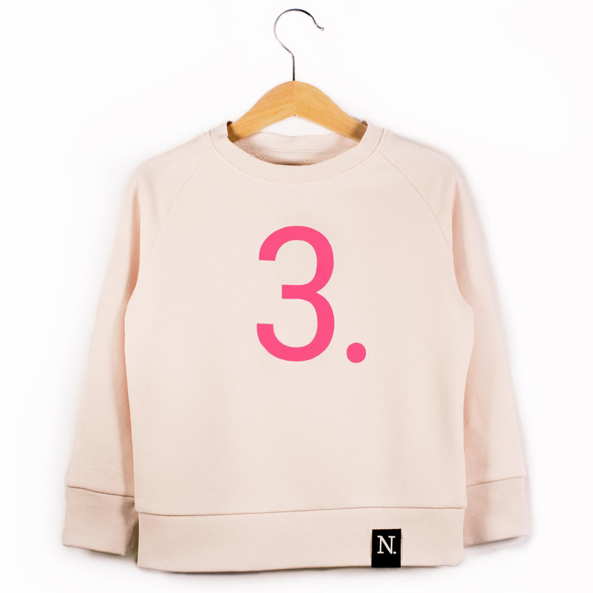 The Number 3 pink sweatshirt